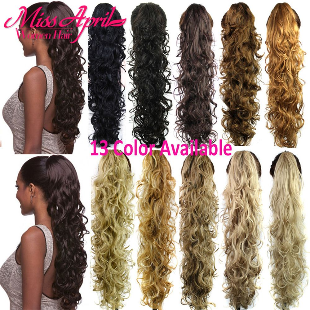 75cm Magic Curly Ponytail Hairpieces False Hair Tails 220g