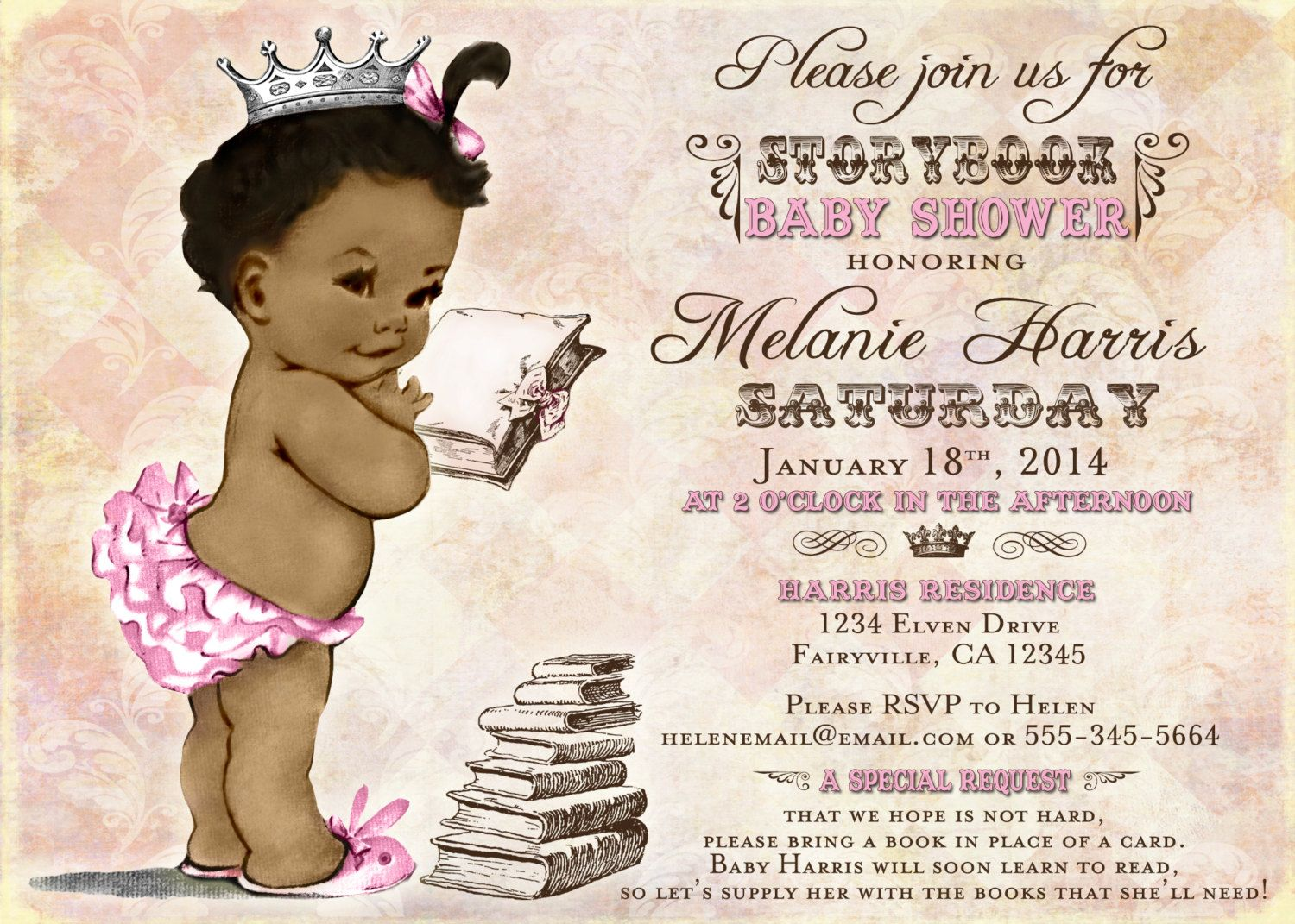 Vintage black baby shower invitations!! I want these!! | Babies ...