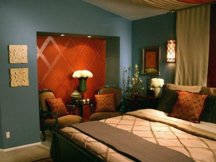 Schlafzimmer dunkelblau ~ Schlafzimmer wandfarbe ideen in fotos