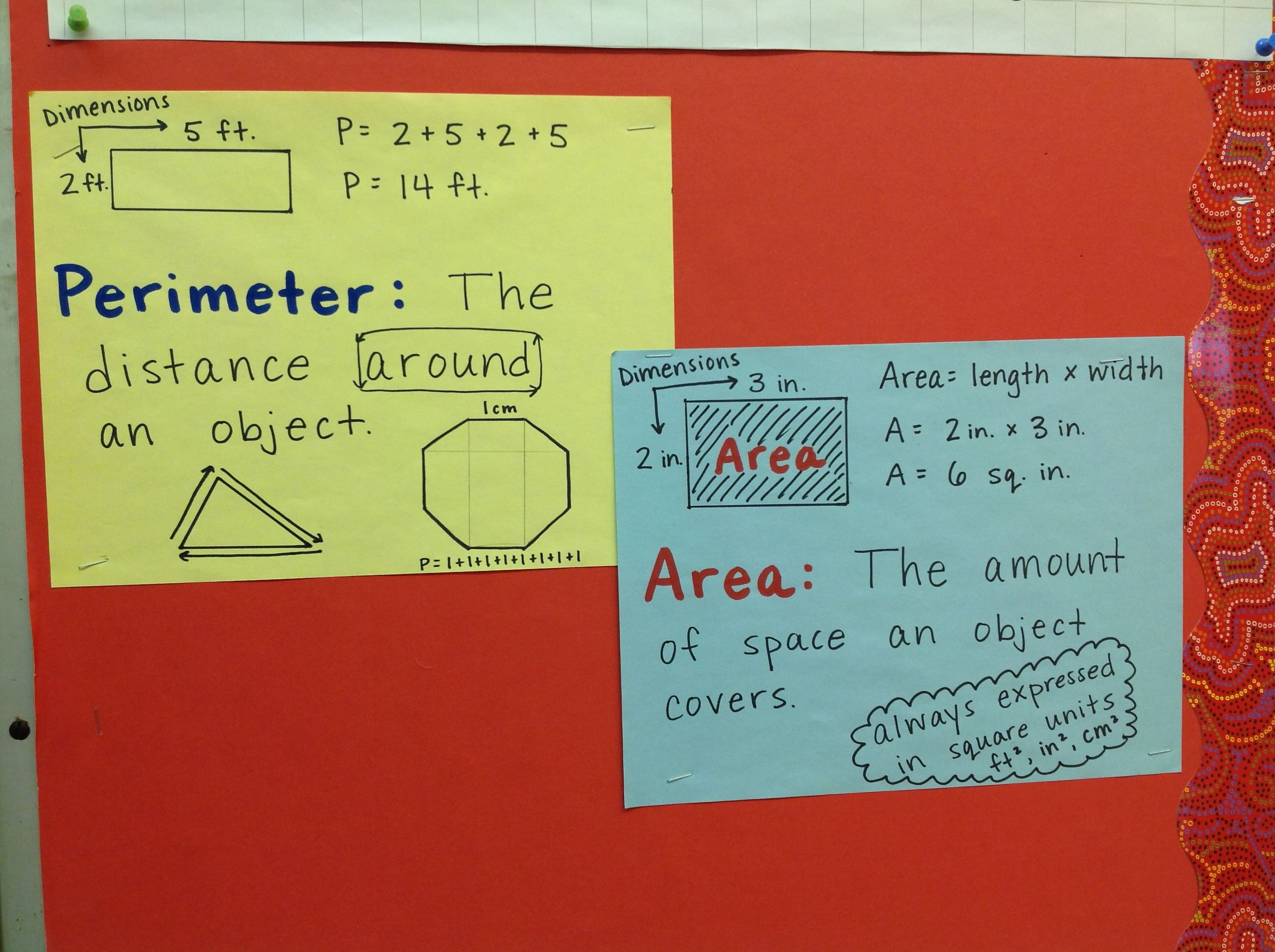 Perimeter And Area Charts