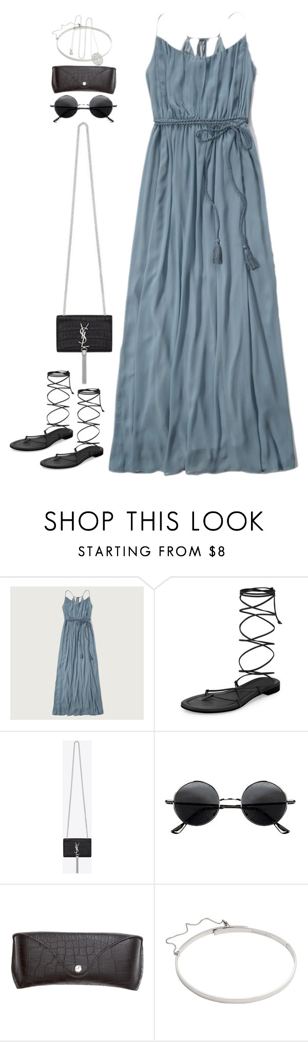 """""""Untitled#4216"""" by fashionnfacts ❤ liked on Polyvore featuring Abercrombie & Fitch, Michael Kors, Yves Saint Laurent, Retrò, H&M, Eddie Borgo and Kenneth Jay Lane"""