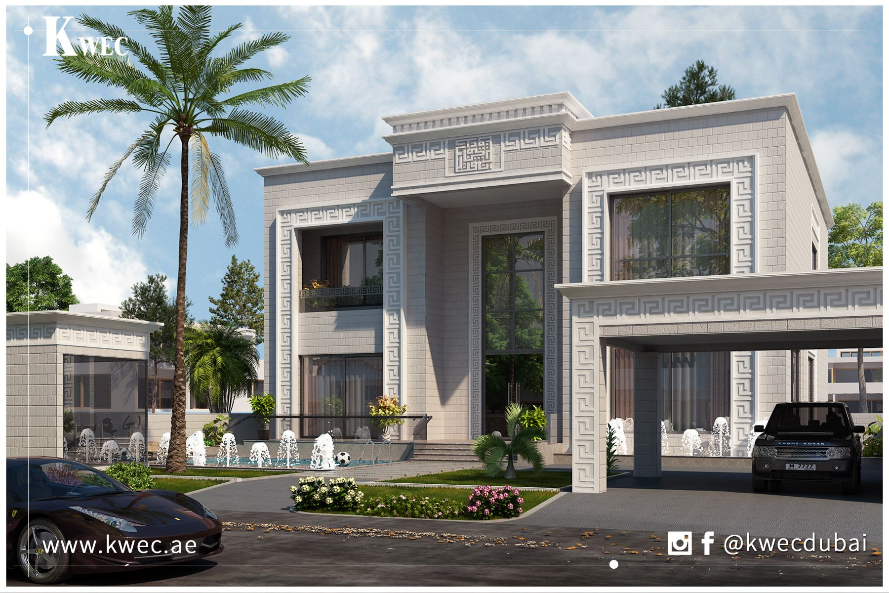 Classical luxury residence in dubai designed by kwec modern house plans modern houses