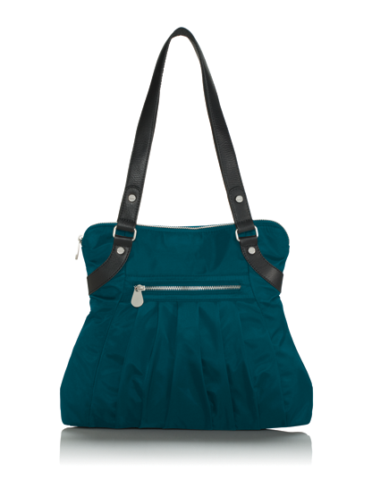 A New Bag From Baggallini Made Really Soft Nylon Trimmed In Leather Http Www The Collections Trim Audrey Satchel