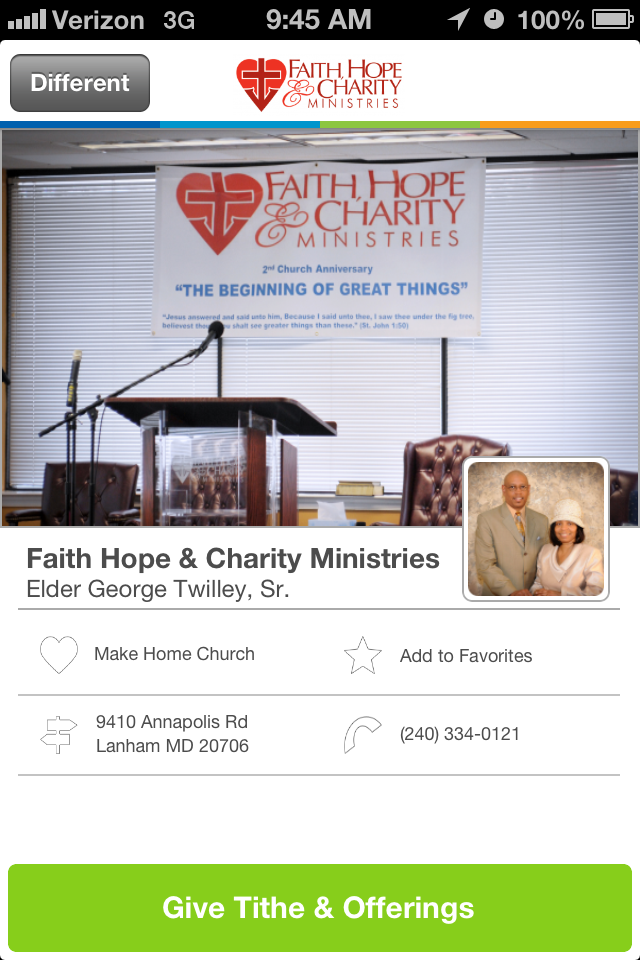Places of Worship Church Giving App Lanham, Charity