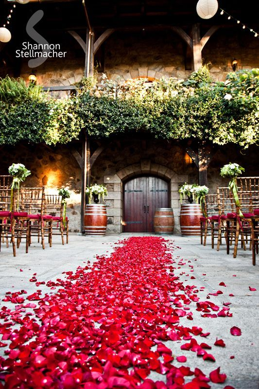 #rosepetal #weddingentrance #sonomastyle #spanishstylewedding #weddingdecor #weddingvenue