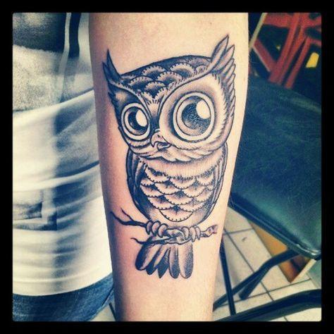 chouette tattoo piercings eulen tattoo eule neue wege. Black Bedroom Furniture Sets. Home Design Ideas