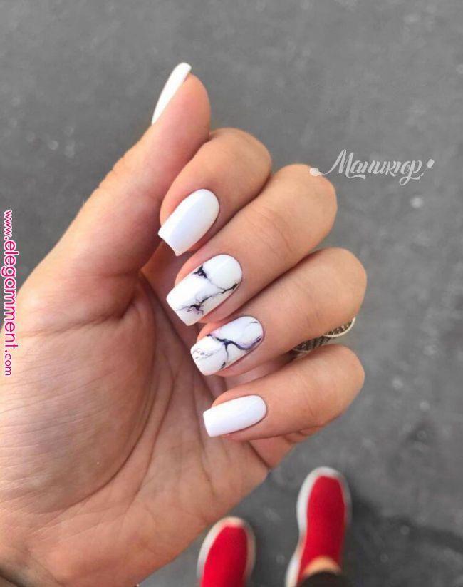 59 Beautiful Nail Art Design To Try This Season  long coffin nails  glitter nails mixmatched nail art nail colors mauve nails  nail poli  Nail  Élégamment