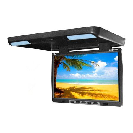 "15.4/"" Car Roof Mount Monitor TFT HD LCD Flip Down Car Monitor Screen TV Video BE"