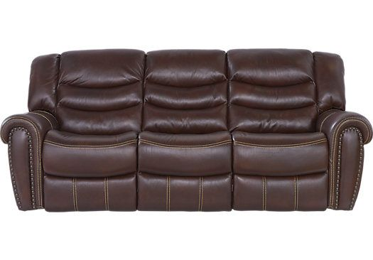 Sky Ridge Mahogany Leather Reclining Sofa 999 99 90w X 40d 41h Find Affordable Sofas For Your Home That Will Complement The Rest Of