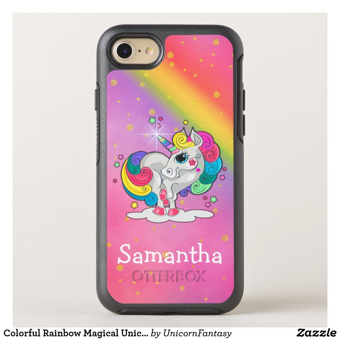 Colorful rainbow magical unicorn otterbox iphone case