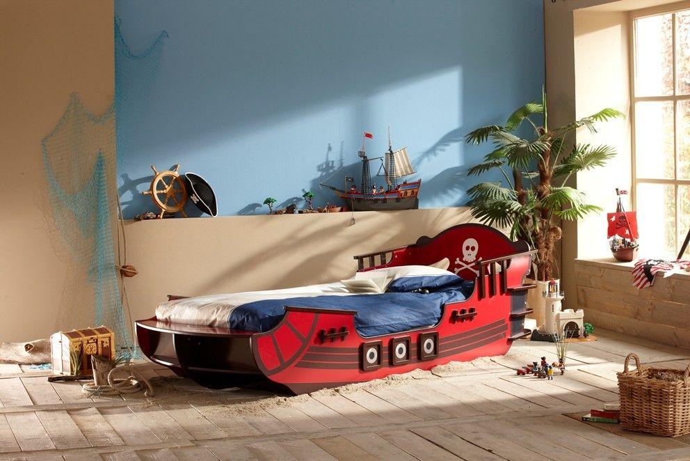 Lit Bateau Pirate Crazy Pour Garcon 90x190 200 Terre De Nuit Lit Enfant Idees De Lit Lit Pirate