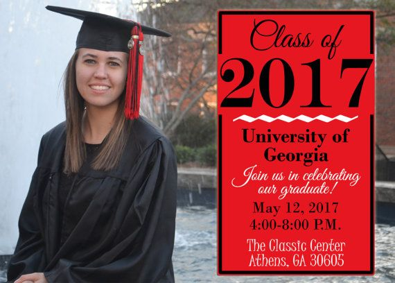 Graduation Party Invitation Customize with your school's