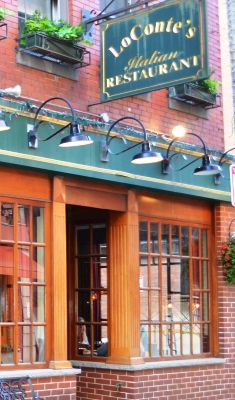 Lo Conte S Authentic Italian Cuisine Delicious Italian Restaurant In The North End Not On Hanover Street Try It Little Italy Italian Restaurant In Boston