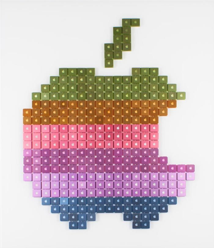 Broken IPods Recycled Into Pixelated Pop Culture-Inspired