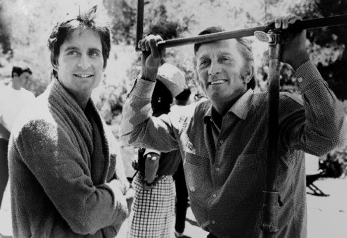 Kirk and Michael Douglas