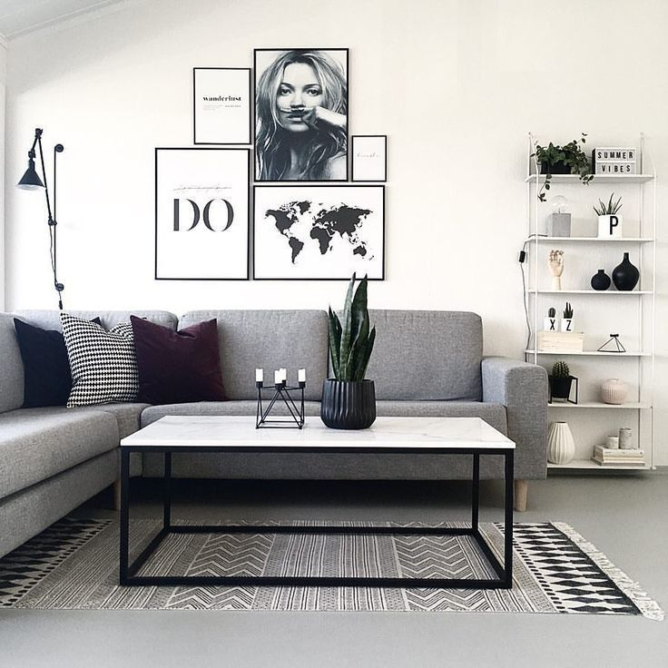 65 Grey Living Room Ideas for Gorge…