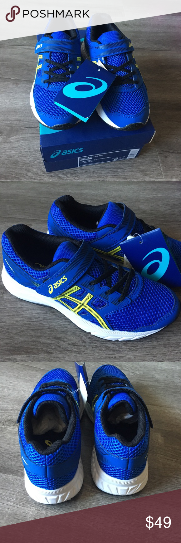 ASICS Kids size 3 shoes New in box in