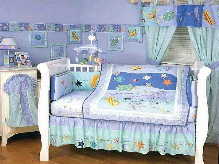 baby crib bedding for boys sea life. Black Bedroom Furniture Sets. Home Design Ideas