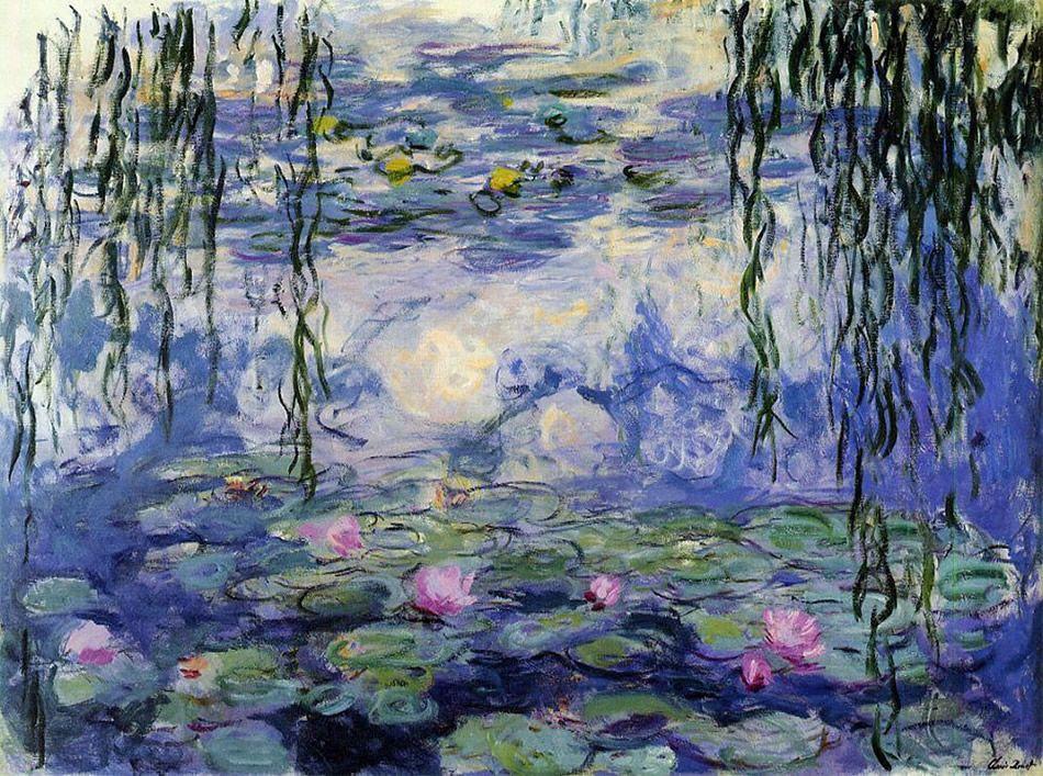 Claude Monet Pintura Azul nenúfares