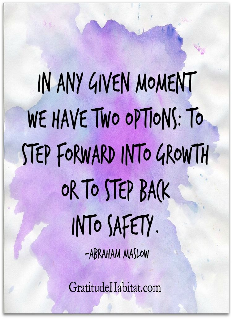Motivational Inspirational Quotes: Growth Or Safety? Visit Us At: Www.GratitudeHabitat.com