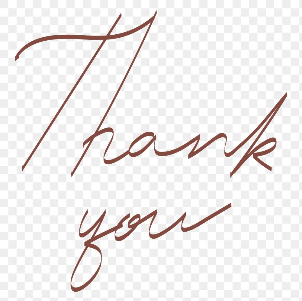 Thank You Handwriting Transparent Png Free Image By Rawpixel Com Aew Typography Card Thank You Card Design Thank You Typography