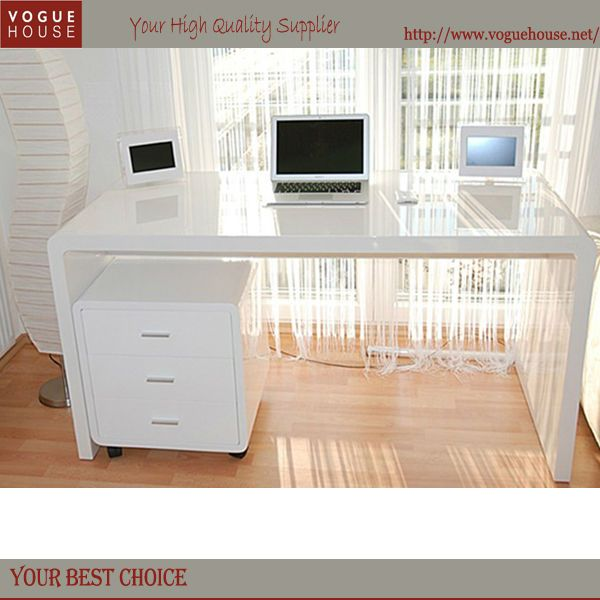 THE ONE?!Office White Mdf Writing Desk   Buy Mdf Curved Office Desk, Great Pictures