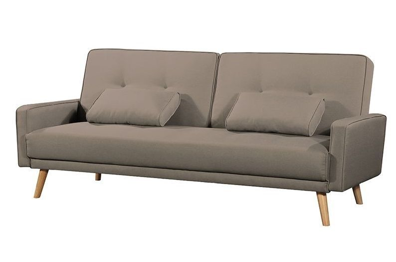 Canape Lit 3 Places Tissu Taupe Street Canape Lit Grand Canape