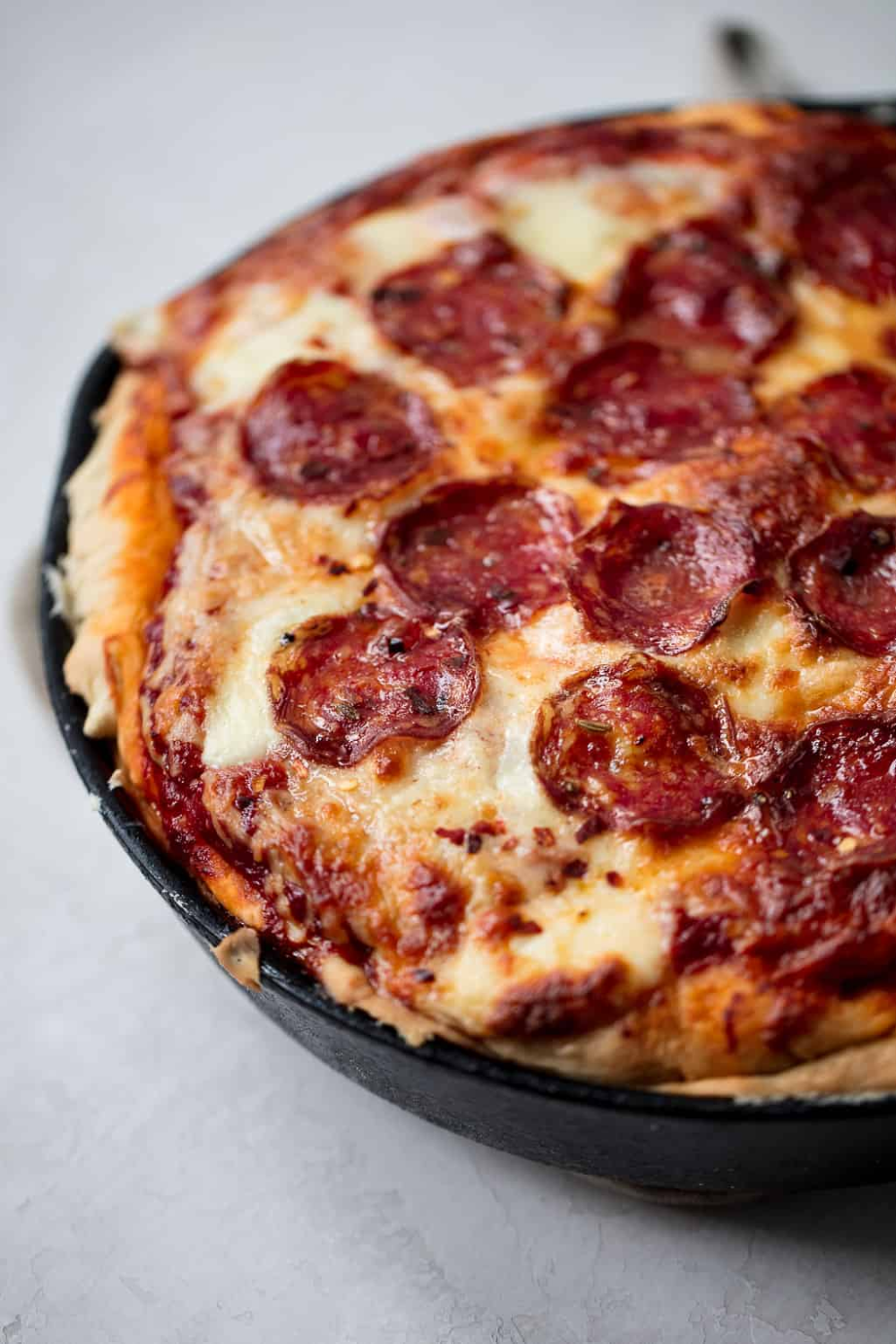 Stuffed Deep Dish Pizza With Spicy Salami Recipe With Images