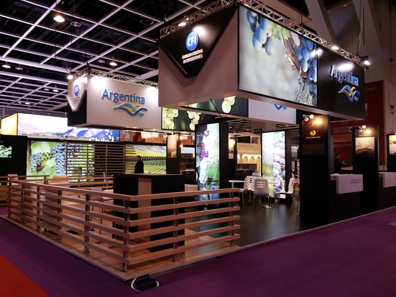 Exhibition Stand Builders Hong Kong : Vinexpo hong kong for wines of argentina pavilion