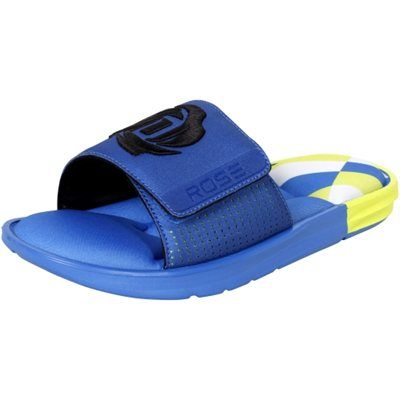 ac218c39695c49  adidas  DRose Slides - Blast Blue White  54.95  Tuesdayshoesday Chicago  Bulls