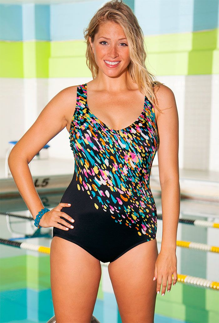 e8aaa2ccd1 Aquabelle Confetti Plus Size Engineered Swimsuit  http   womensqualityswimwears.blogspot.com