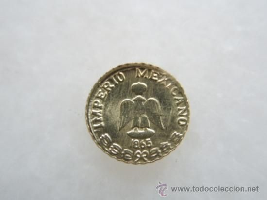 Mini Mexican Gold Coin 1865 Maximiliano Emperador