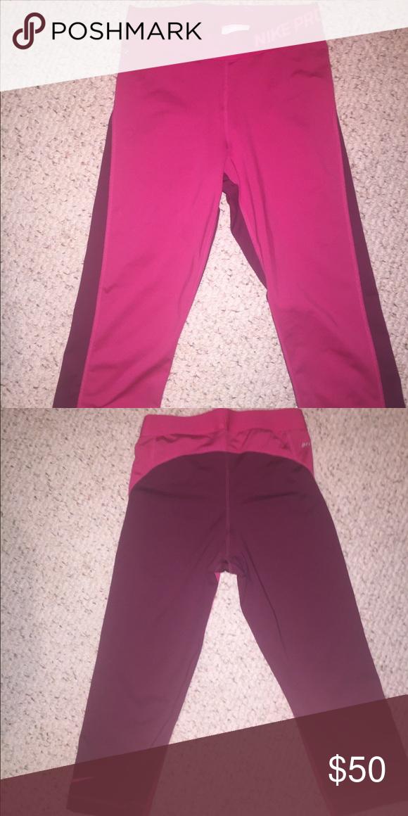 Nike leggings Dri-Fit hot pink cropped leggings Nike Pants Ankle & Cropped