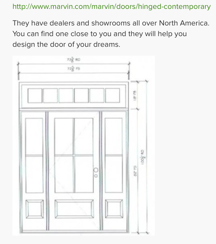 Front Door From Marvin Windows See Other Pin For Finished Product Front Door Sidelights Door Sidelights Farmhouse Front Door