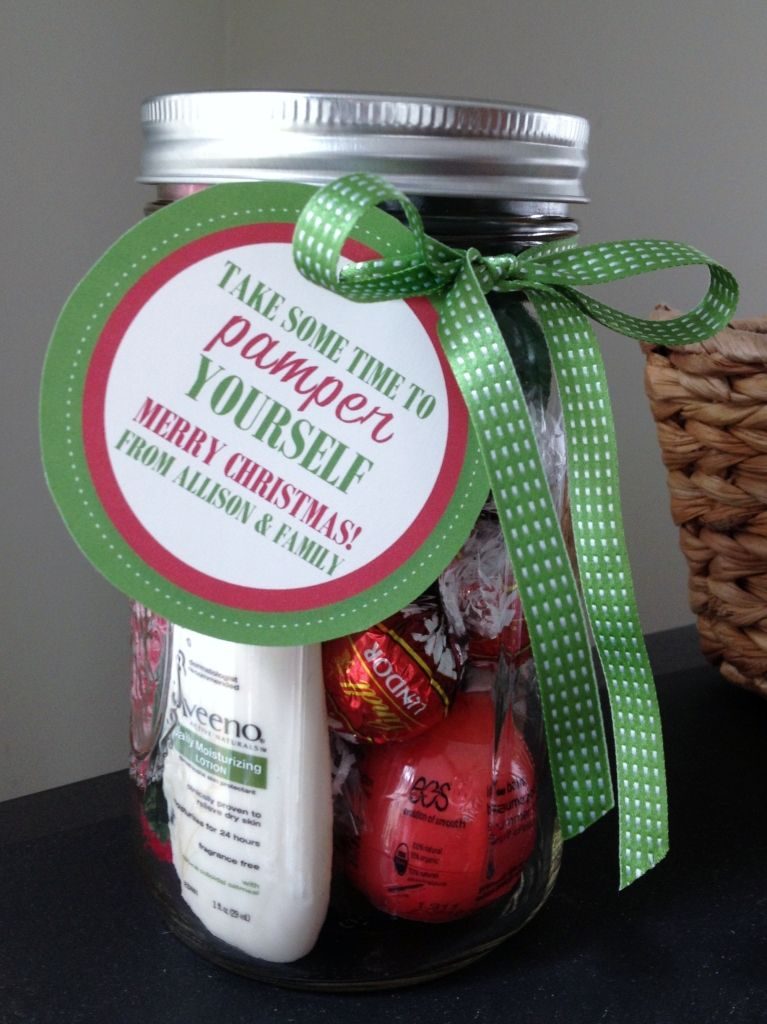 Pamper In A Jar Tags Gift Jar Homemade Gifts