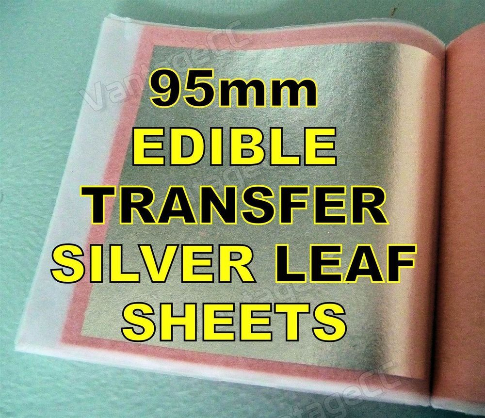 5 Extra Large Sheets Size 95MM x 95MM Real Silver Leaf Genuine 100/% Pure UK Supplier