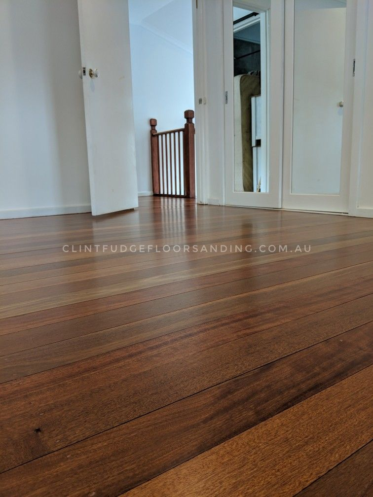 Meranti floor in Langwarrin,VIC finished with a matte