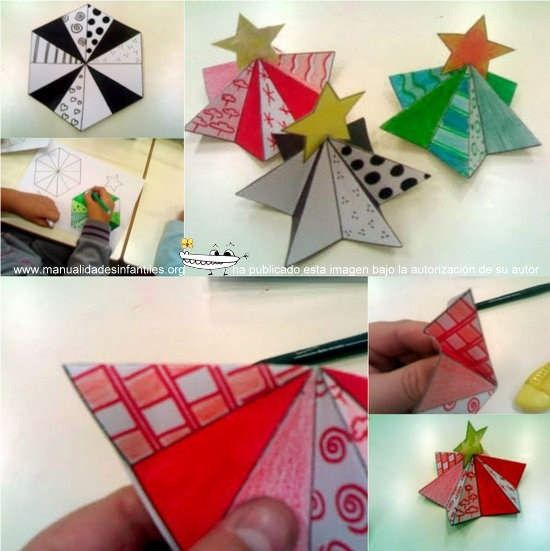 Moldes para tarjetas de navidad 3d