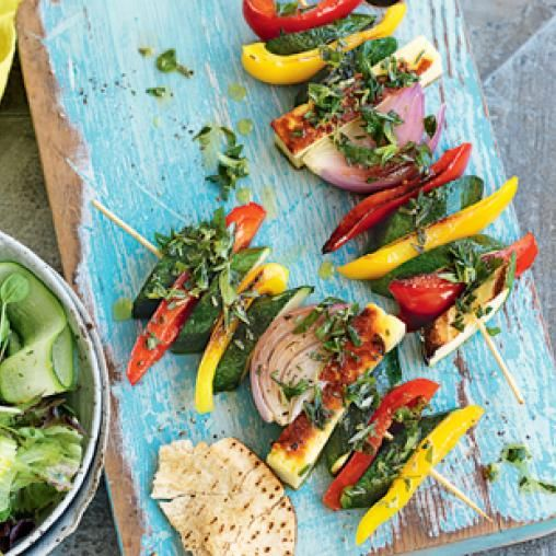 Haloumi zucchini and capsicum kebabs australian healthy food haloumi zucchini and capsicum kebabs australian healthy food guide healthy vegetarian recipeshealthy forumfinder Gallery