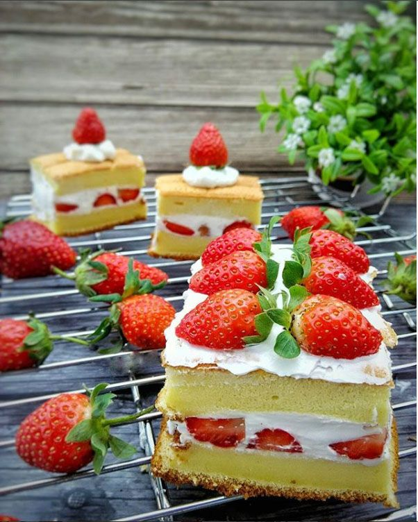 Resep Cara Membuat Strawberry Shortcake Lembut Enak Dan Sederhana Resep Kue Asli Jepang Resepkuekomplit Com Kumpulan Resep Ku Resep Kue Makanan Resep