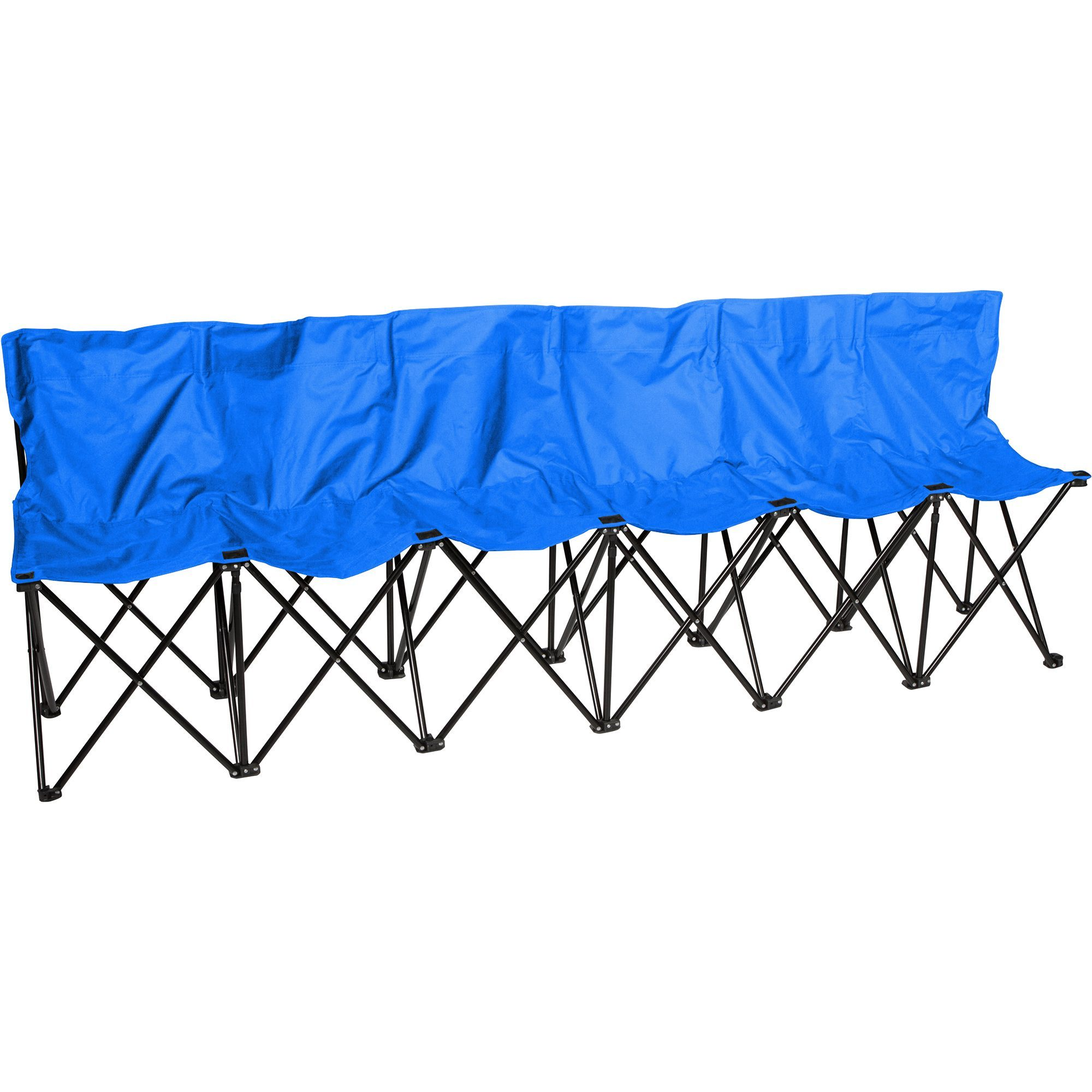 Amazing Portable 6 Seat Sports Bench With Back Sits 6 People Blue Dailytribune Chair Design For Home Dailytribuneorg