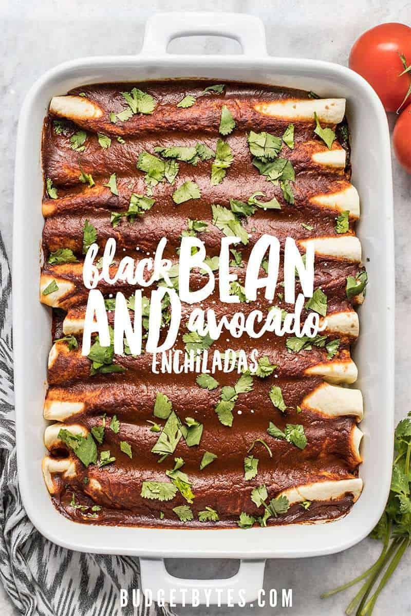 Black Bean And Avocado Enchiladas
