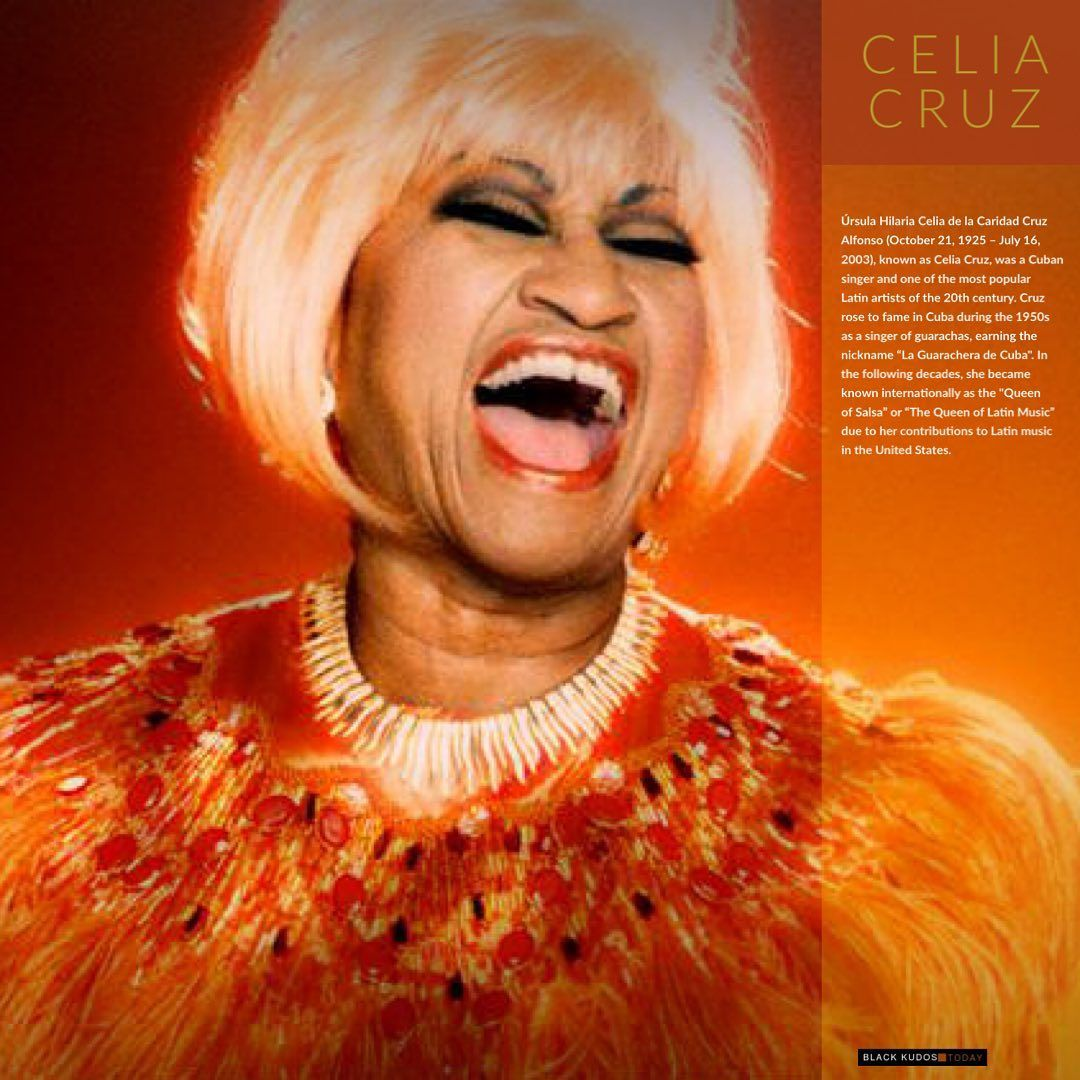 "Black Kudos on Instagram ""Celia Cruz"" Celia cruz, Music"