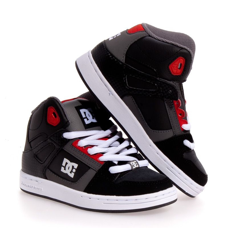 Details about DC Shoes Rebound Leather Skate Boy/Girls Kids Shoes ...