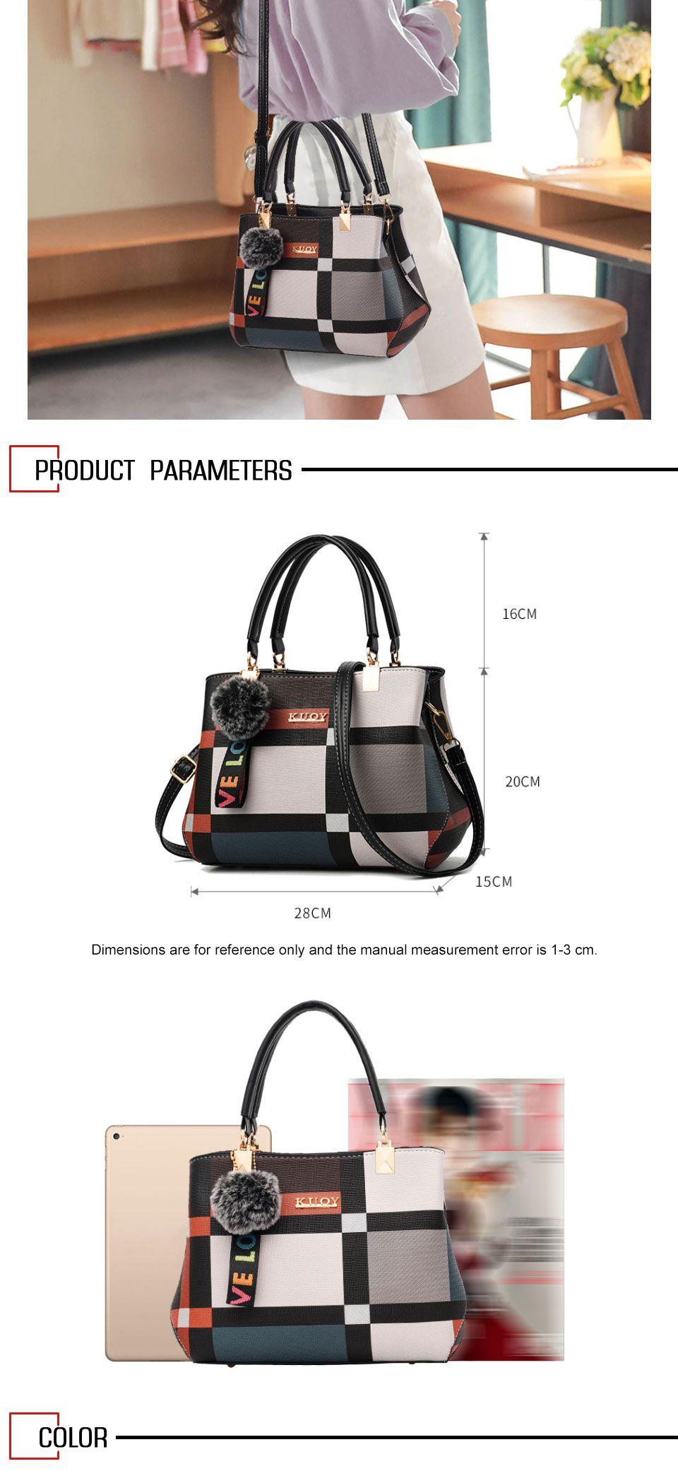 Bolsos cruzados a cuadros de marca de lujo para mujer