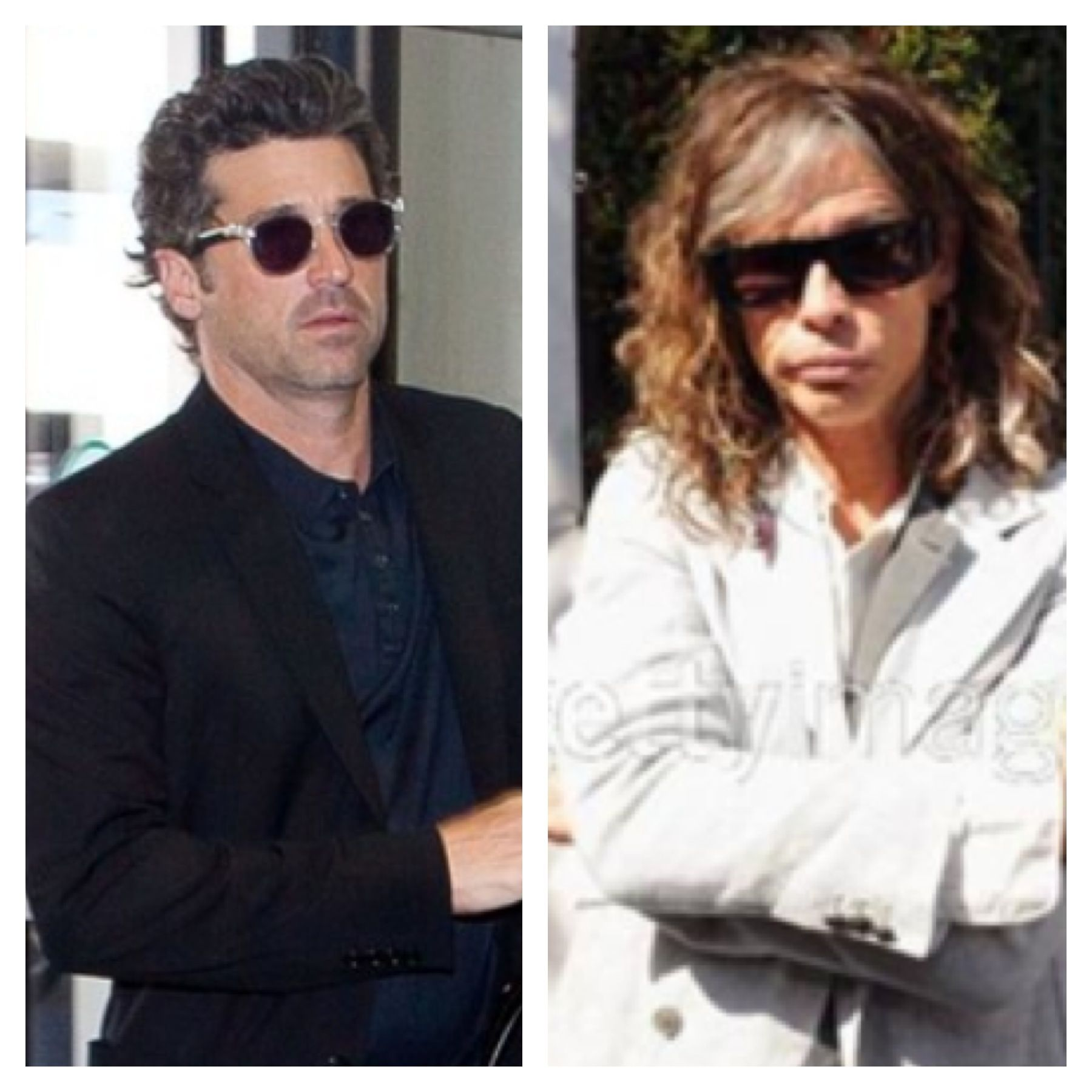 Patrick Dempsey And Steven Tyler In John Varvatos Sunglasses