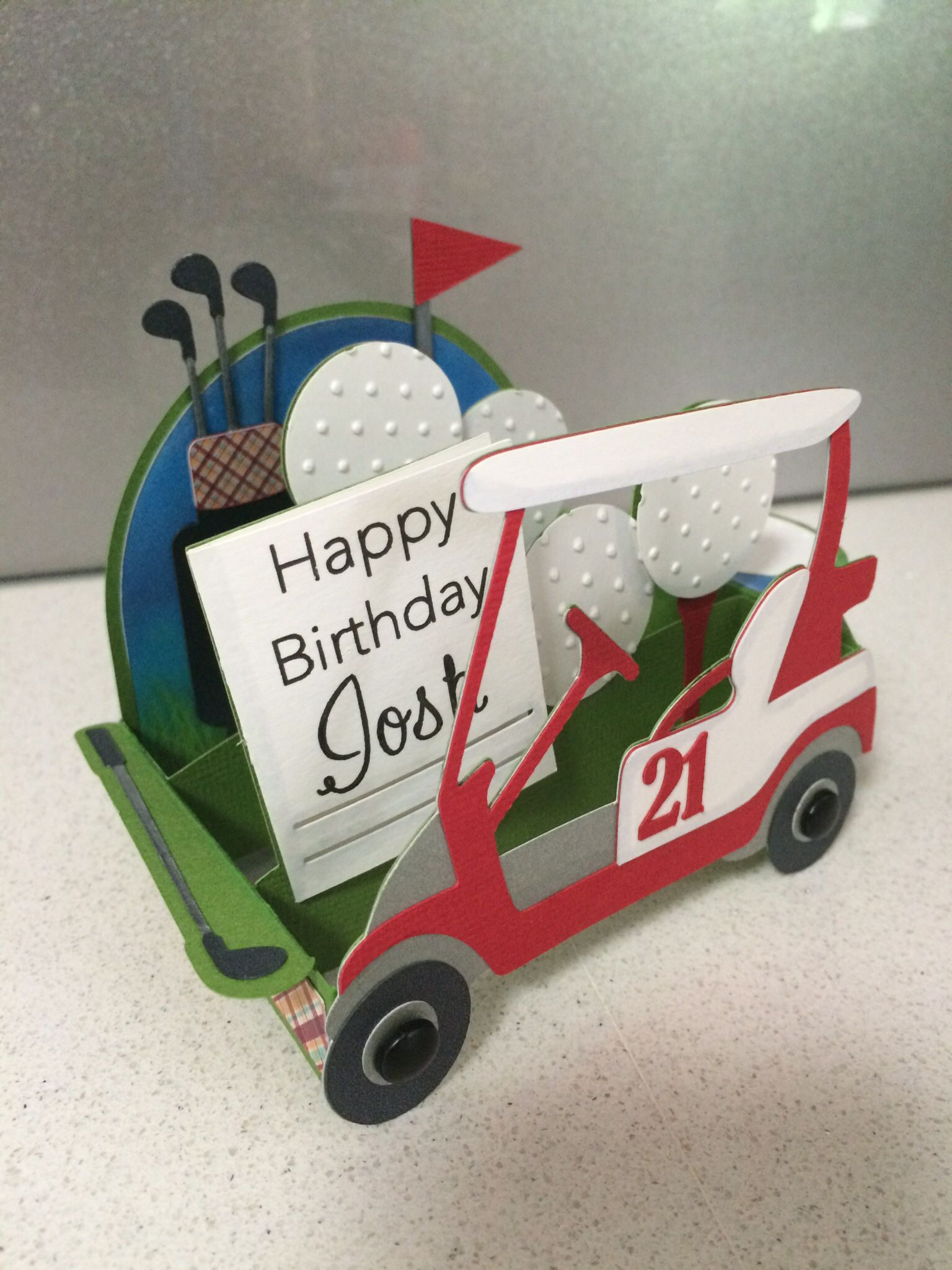 Paper Golf Cart Template - Year of Clean Water