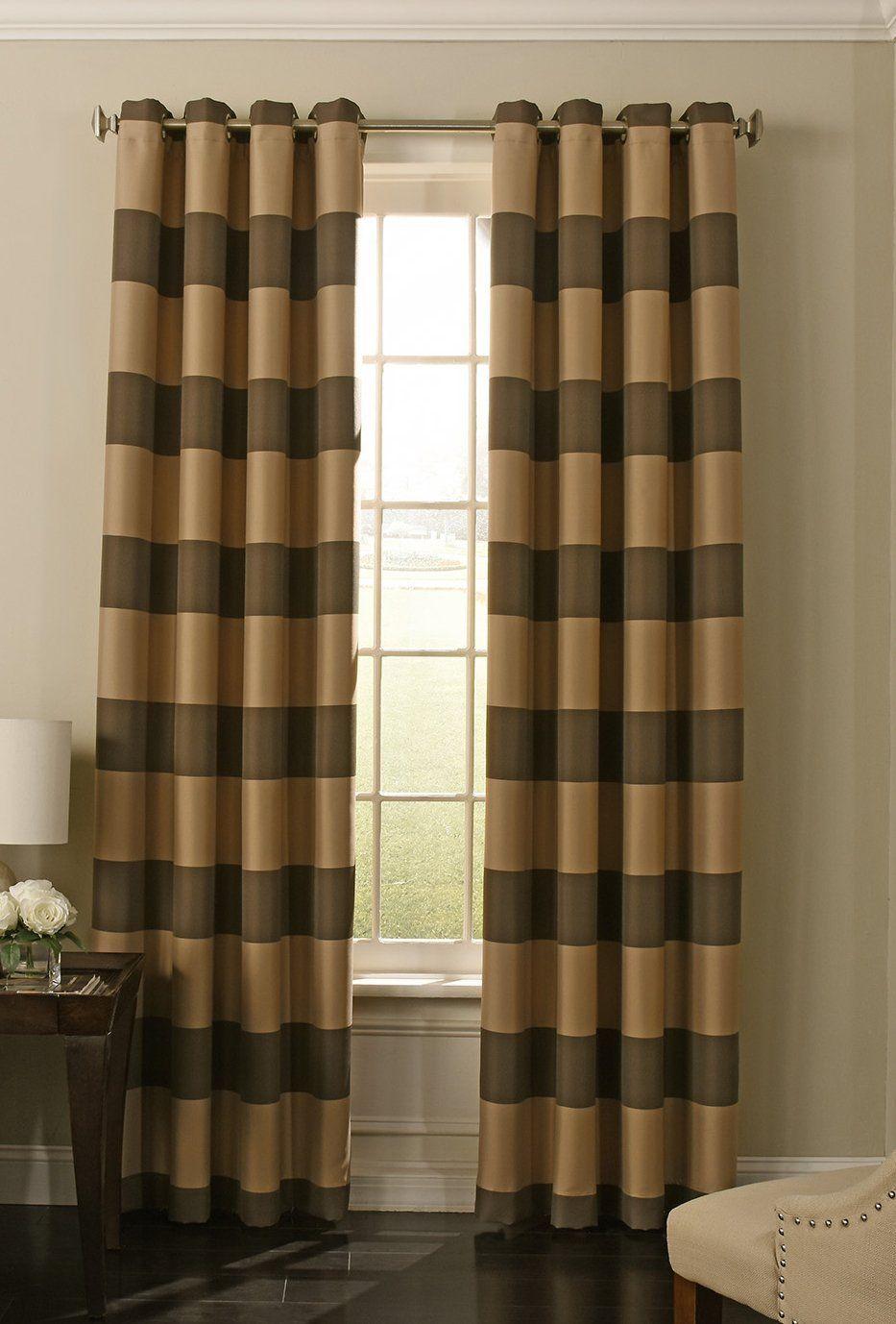 Beautyrest chocolate gaultier blackout window curtain for