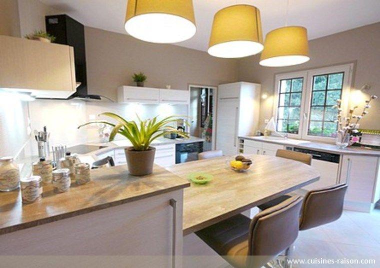 Cuisine design moderne - Aménagement de la pièce en u - Matière - Amenagement Cuisine En U