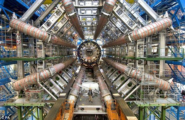 The Large Hadron Collider (pictured) is the biggest, most powerful particle accelerator in the world ¿ but, not for long. Scientists are now discussing plans for the machine that will one day replace the LHC, and they say it will be seven times stronger, and three times the size